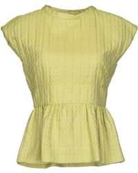 Giles Top green - Lyst