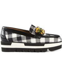 Dolce & Gabbana Black 'Palermo' Loafers - Lyst