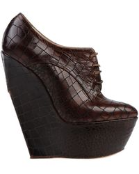 Casadei Laceup Shoes - Lyst
