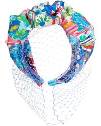 Jennifer Behr - Multicolour Hampton Wedding Liberty Print Scalloped Voilette - Lyst