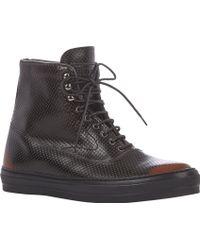 Alexander McQueen Side-zip Perforated Sneakers - Lyst