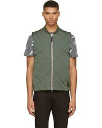 Paul Smith Green Diamond Quilted Vest - Lyst