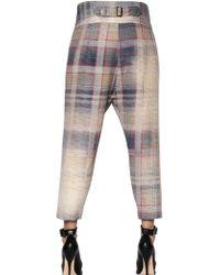 Vivienne Westwood Anglomania Plaid Wool Flannel Capri Pants - Lyst