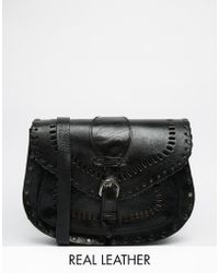 Warehouse - Cross Body Bag With Stitching Detail - Lyst