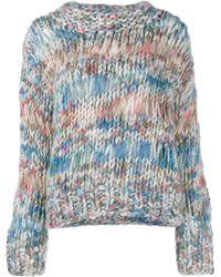 Chloé | Open Knit Sweater | Lyst