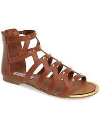 Steve Madden 'Claudiaa' Studded Gladiator Sandal - Lyst