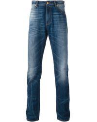 Versace Medusa Straight Leg Jeans - Lyst