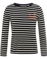 Chinti & Parker Hello-Intarsia Cashmere Sweater - Lyst