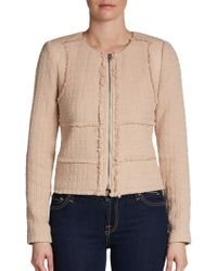 Rebecca Taylor Patched Tweed Jacket - Lyst