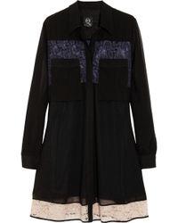 McQ by Alexander McQueen Lace-paneled Chiffon Dress - Lyst