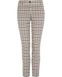 Aquascutum Slim Leg Club Check Trouser - Lyst
