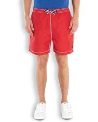 Psycho Bunny - Red Swim Shorts - Lyst