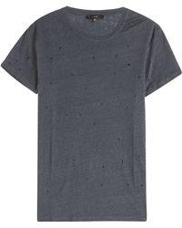 IRO Distressed Linen T-Shirt - Lyst