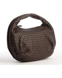 Bottega Veneta Brown Intrecciato Leather 'Edoardo' Hobo Bag - Lyst
