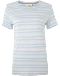 Linea Weekend Tonal Stripe Tee - Lyst