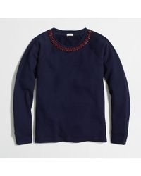 J.Crew Factory Necklace Sweatshirt - Lyst