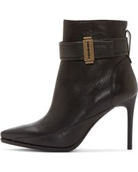 McQ - Black Grained Leather Razor Lex Ankle Boots - Lyst