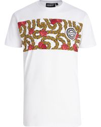 River Island White Panuu Rose and Chain Print Tshirt - Lyst