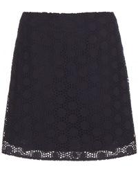 Tory Burch Jillian Cotton Skirt - Lyst