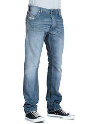 Diesel Mens Krooley Regular Slim Tapered Jeans - Lyst