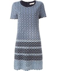 Tory Burch Crochet Shift Dress - Lyst