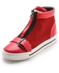 Marc By Marc Jacobs Bmx Zip Up Buckle Sneakers Black - Lyst