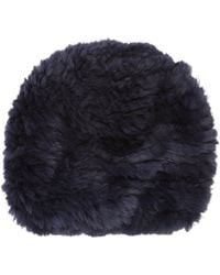 Barneys New York | Fur Slouchy Beanie | Lyst
