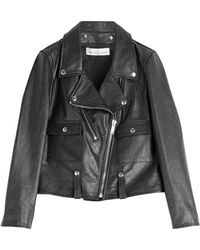 Golden Goose Deluxe Brand Leather Biker Jacket - Lyst