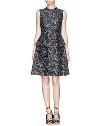 Tory Burch Liana Polka Dot Print Peplum Dress - Lyst