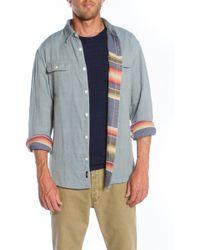 Faherty Brand Blue Belmar Workshirt - Lyst