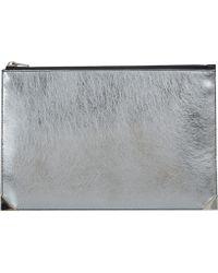 Alexander Wang Silver Prisma Flat Pouch - Lyst