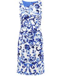 Max Mara Studio Blue Divo Dress - Lyst