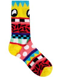 Lazy Oaf - Face It Ankle Socks - Lyst