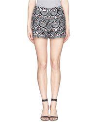 Giamba 'Liberty' Jacquard Shorts black - Lyst