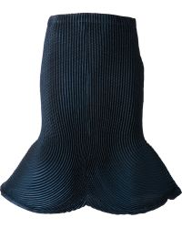 Issey Miyake Accordion Pleated Bell Skirt - Lyst