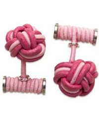 Hook + Albert - Hook + Albert Leather Knotted Cufflinks - Lyst