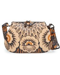 Valentino Covered Floral-Print Leather Hobo - Lyst