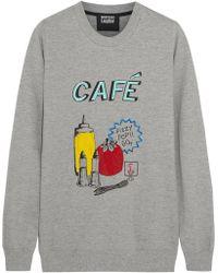 Markus Lupfer British Café Sequined Cottonjersey Sweatshirt - Lyst