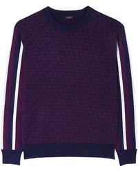 Joseph Stripe Sleeve Knitted Jumper - Lyst