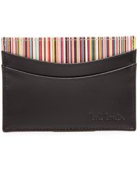 Paul Smith Interior Multi Stripe Card Holder - Lyst