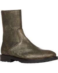 Ann Demeulemeester Roundtoe Ankle Boots - Lyst
