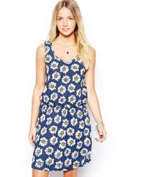 Brave Soul Daisy Print Skater Dress - Lyst