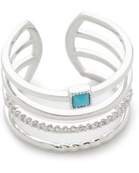 Tai - 4 Layer Ring - Silver/turquoise - Lyst
