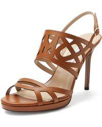 Diane von Furstenberg Dakota Cutout Leather Sandal - Lyst
