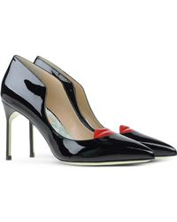 Giannico | Patent Leather Lip Pumps | Lyst