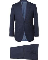 Thom Sweeney Navy Weighouse Wool Suit - Lyst