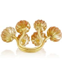 Munnu - 22karat Gold Citrine Flower Ring - Lyst