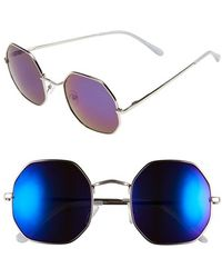 A.J. Morgan - 'otto' 52mm Mirrored Sunglasses - Lyst