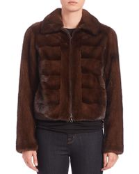 Bibhu Mohapatra | Paneled Mink Fur Jacket | Lyst