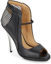 L.A.M.B. Skylar Cutout Leather Pumps/Black - Lyst